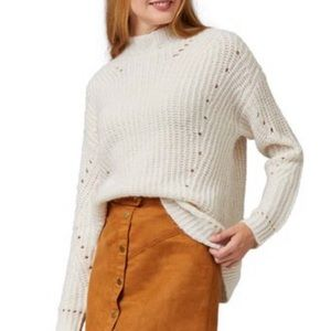 rib knit mock neck sweater nwot